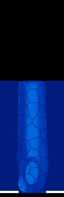 Sr arm cover outside %28voronoi%29   dark blue